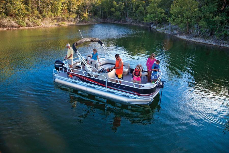 10 passenger fishing pontoon boat